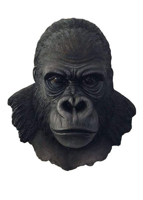 Gorilla Silver Back Head Bust Jungle Prop Life Size Resin Statue - LM Treasures Prop Rentals