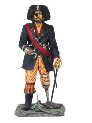 Pirate Captain Hook Life Size Statue