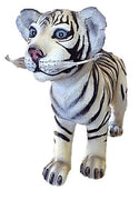 Tiger Siberian Cub Standing Animal Prop Life Size Decor Resin Statue - LM Prop Rentals
