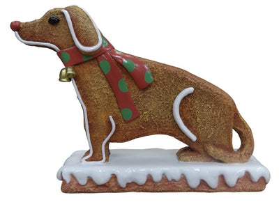 Gingerbread Dog Cookie Small Display Prop Decor Statue - LM Treasures Prop Rentals