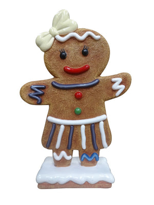 Gingerbread Girl Cookie #1 Small Display Prop Decor Statue - LM Treasures Prop Rentals