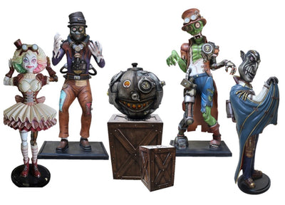 Halloween Steam Punk Package Life Size Resin Statues