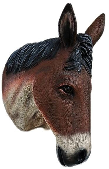 Donkey Mule Brown Head Wall Decor Life Size Prop - LM Treasures Prop Rentals