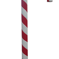 Candy Cane 220cm Red and White Over sized Display Resin Prop Decor Statue - LM Prop Rentals