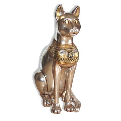 Egyptian Animal Bastet Cat Goddess Large Life Size Prop Decor Resin Statue - LM Prop Rentals