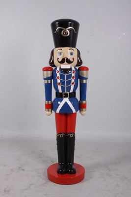 Nutcracker Soldier Life Size Resin Christmas Statue NEW - LM Prop Rentals