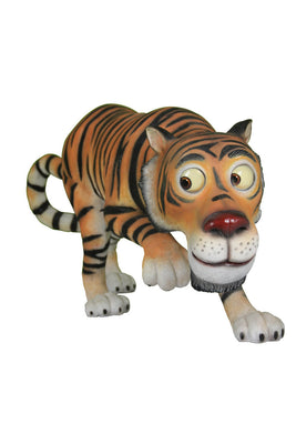 Comic Tiger Animal Prop Life Size Decor Resin Statue - LM Treasures Prop Rentals