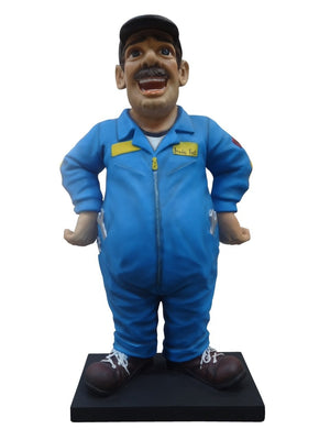 Cartoon Mechanic Man Display Prop Decor Resin Statue - LM Prop Rentals