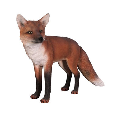 Dog Wild Fox Red Animal Prop Life Size Decor Resin Statue - LM Prop Rentals