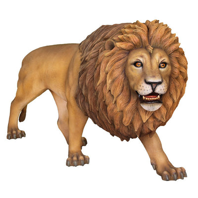 Lion King Walking Safari Prop Life Size Resin Statue - LM Treasures Prop Rentals
