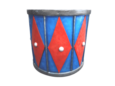 Drum Base Statue Christmas Circus Theme - LM Prop Rentals