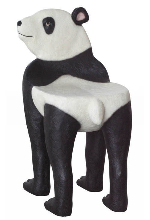 Bear Panda Chair Animal Prop Life Size Decor Resin Statue - LM Prop Rentals