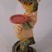 Crocodile Animal Butler Small Prop Decor Resin Statue