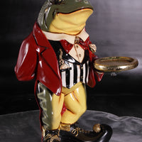 Small Frog Butler Statue