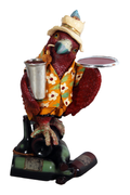 Parrot Butler Large Life Size Statue Prop