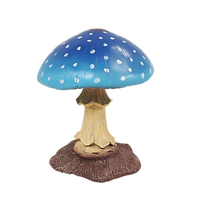 Blue Small Mushroom Over Sized Statue