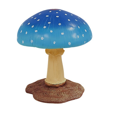 Blue Medium Mushroom Over Sized Statue