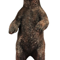 Brown Grizzly Bear Standing Life Size Prop Resin Statue