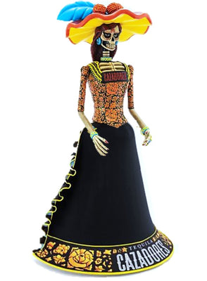Skeleton Woman Cazadores Tequila Day Of The Dead Halloween Prop Life Size Resin Decor Statue