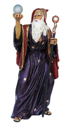 Wizard Merlin Life Size Mythical Prop Decor Resin Statue