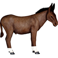 Donkey Mule Brown #1 Decor Life Size Prop