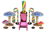 Large Candy Mushroom Package Life Size Statues