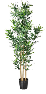 Artificial Foliage Tree Bamboo 5.5 ft Jungle Safari Prop Decor - LM Prop Rentals