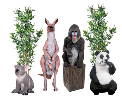 Safari Jungle Package Life Size Resin Statues - LM Treasures Prop Rentals