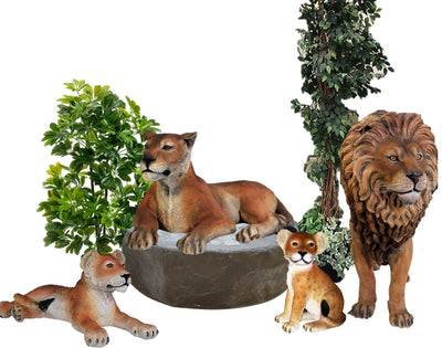 Jungle Family Package Life Size Statues