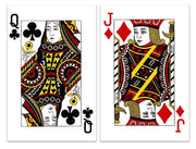 Playing Cards Jack & Queen Set of 2 Poker Cardboard Display