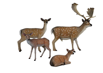 Deer Family of 4 Animal Prop Life Size Decor Resin Statue
