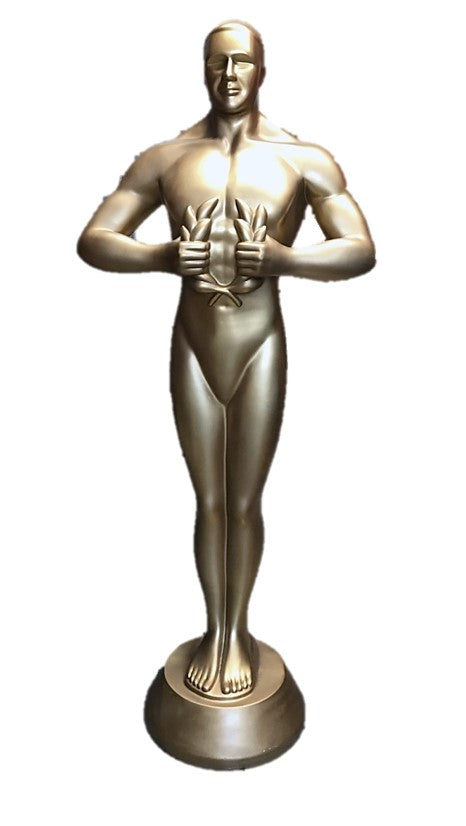 Trophy 6ft # 2 Gold Movie Decor Resin Statue