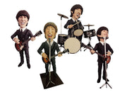 Beatle Set of 4 Display Prop Decor Resin Statue - LM Treasures Prop Rentals