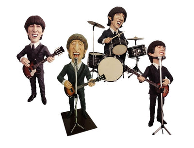 Beatle Set of 4 Display Prop Decor Resin Statue - LM Prop Rentals