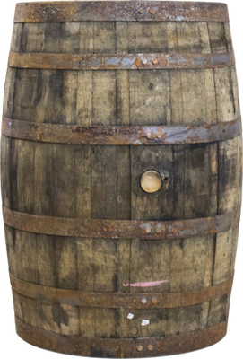 Barrel Whiskey Life Size Rustic Prop Decor - LM Treasures Prop Rentals