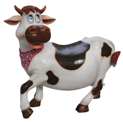 Comic Cow Miss Animal Prop Resin Decor Statue
