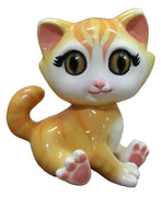 Comic Cat Kitten Yellow Decor Prop Statue
