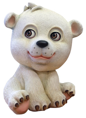 Comic Bear Polar Zoie Animal Prop Life Size Decor Resin Statue