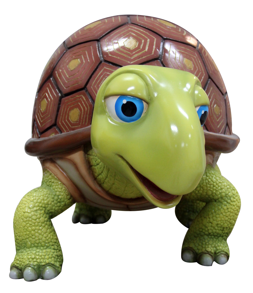 Comic Turtle Walking  Display Resin Prop Decor Statue - LM Treasures Prop Rentals