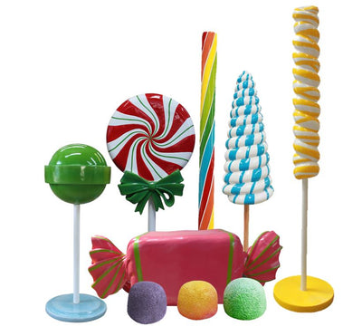 Candy Land Package Life Size Resin Statues - LM Treasures Prop Rentals
