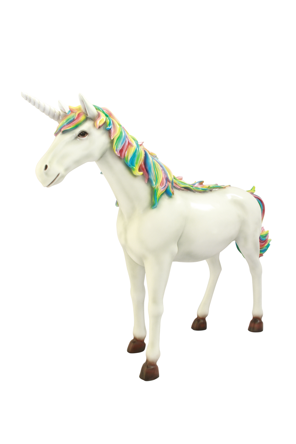 Unicorn # 2 Rainbow Mythical Prop Life Size Resin Horse Statue - LM Treasures Prop Rentals