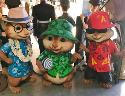 Cartoon Celebrity Alvin and the Chipmunks 5ft Movie Hollywood Prop Decor Statue - LM Prop Rentals