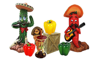 Fiesta Comic Package Life Size Resin Statues - LM Treasures Prop Rentals