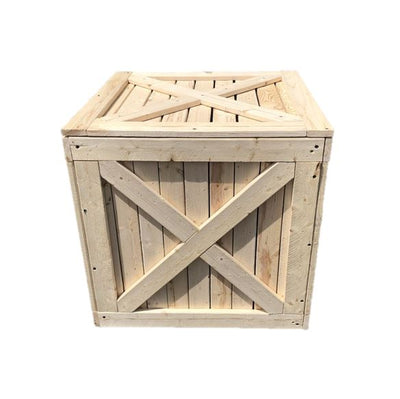 Crate Wood Square Extra Large Jungle Prop Decor Pedestal - LM Prop Rentals
