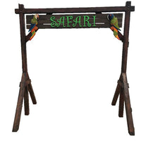 Archway Safari Jungle Prop Wooden Decor - LM Treasures Prop Rentals