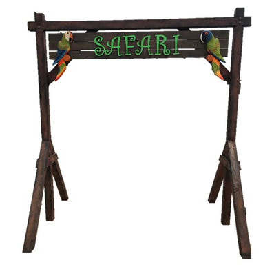 Archway Safari Jungle Prop Wooden Decor - LM Prop Rentals