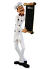 Skinny Chef Baker Statue 4ft