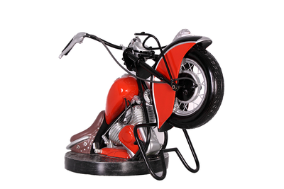 Sofa Motorcycle Table Vintage Furniture Prop Resin Decor Statue