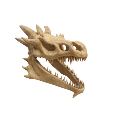Dragon Skull Mythical Prop Resin Decor Statue - LM Treasures Prop Rentals