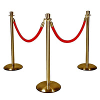 Hollywood Prop Gold Stanchions with Red Ropes Movie Decor Statue - LM Treasures Prop Rentals